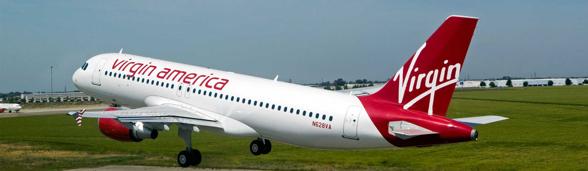 Virgin America Airlines Plane taking off