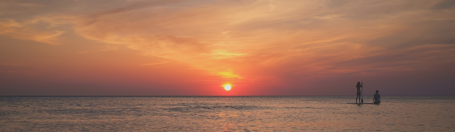 Sunset over Hawaii beach