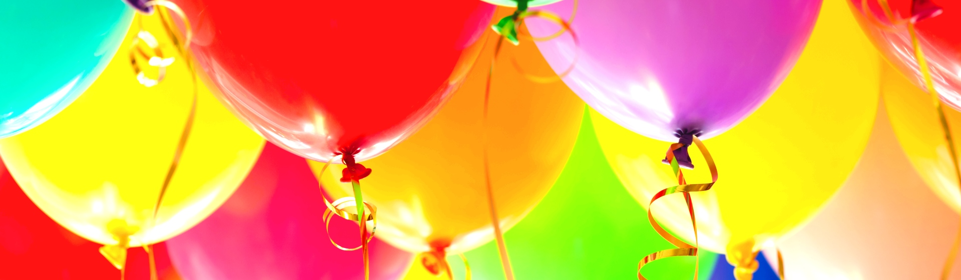 Colorful party balloons.