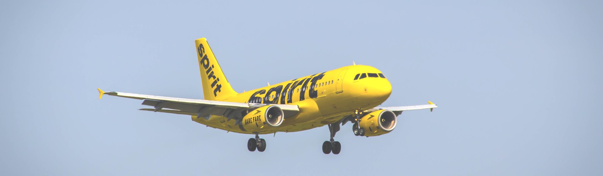 Yellow spirit airplane.