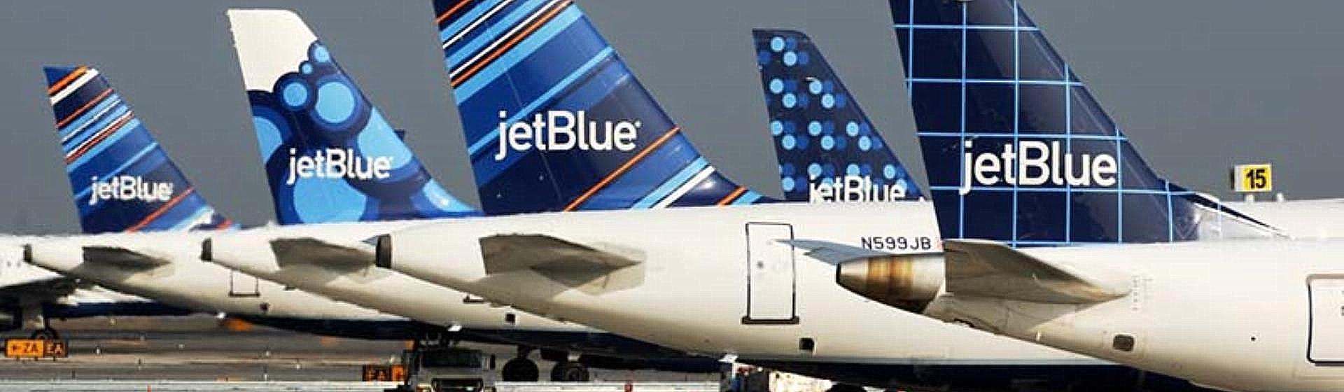 JetBlue Plane tails.