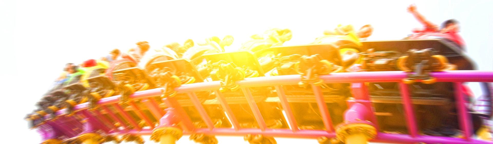 Pink roller coaster.