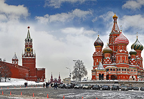 Red Square in the city of Moscow
