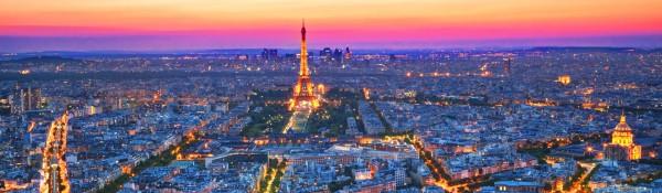 Paris at dusk