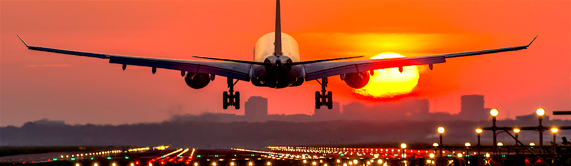 1920x560, plane, sunset, sunrise, night, flight, flying, take off, landing,